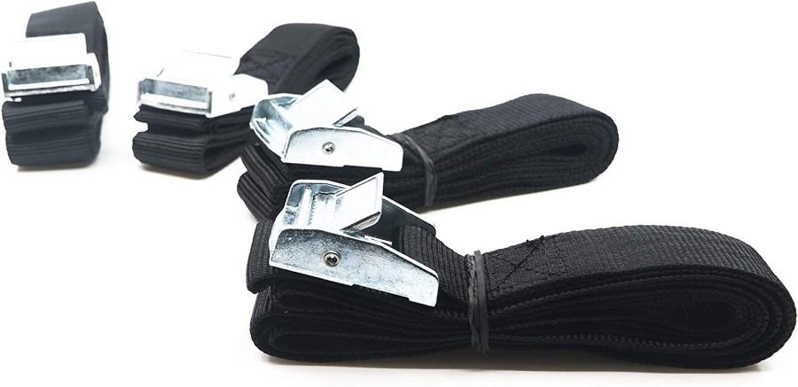 Shred Rack 4-Set Lashing Strap/Tension Belt, 4m Black