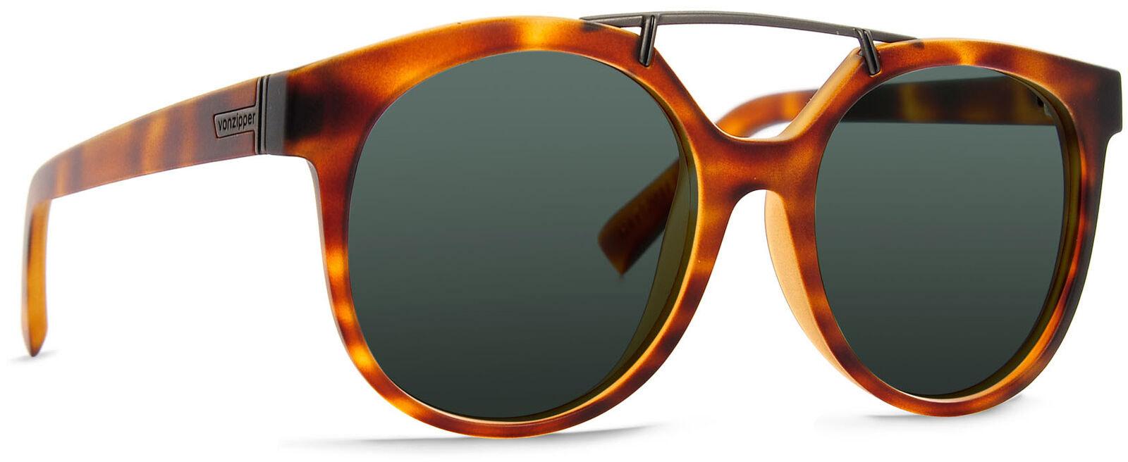 Von Zipper Hitsville Vintage Grey Lens Sunglasses, Tortoise Satin