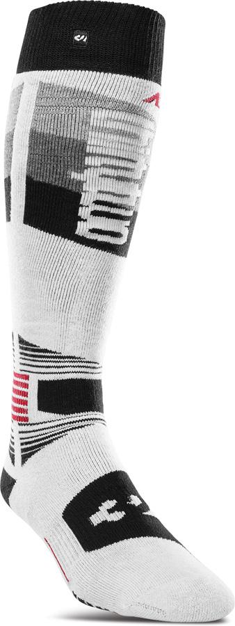 thirtytwo ASI Merino Performance Snowboard/Ski Socks, S/M White