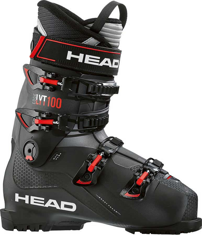 Head Edge LYT 100 Ski Boots, 25/25.5 Black/Red 2021