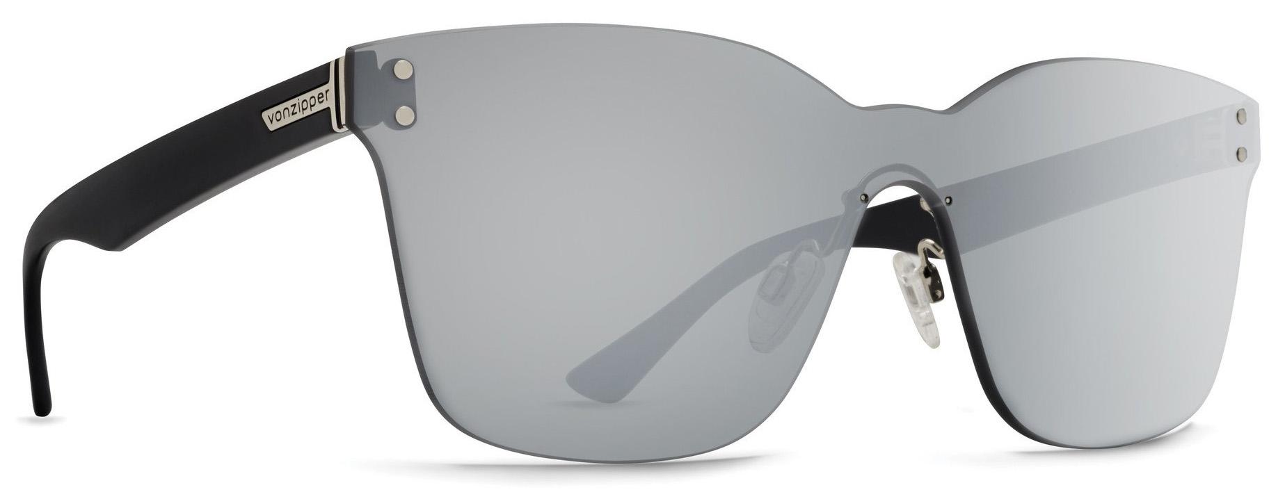 Von Zipper Howl ALT Flash Chrome Silver Lens Sunglasses, Black Gloss