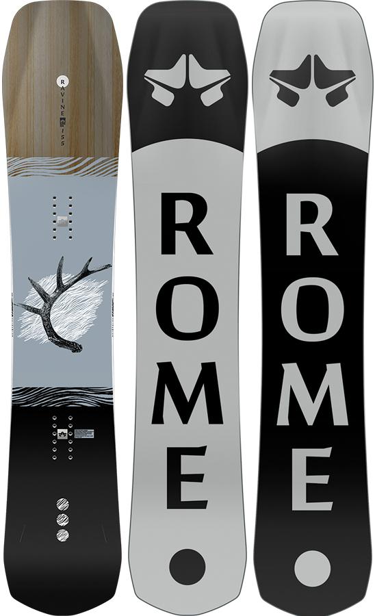 Rome Adult Unisex Ravine Hybrid Camber Snowboard, 158cm 2021