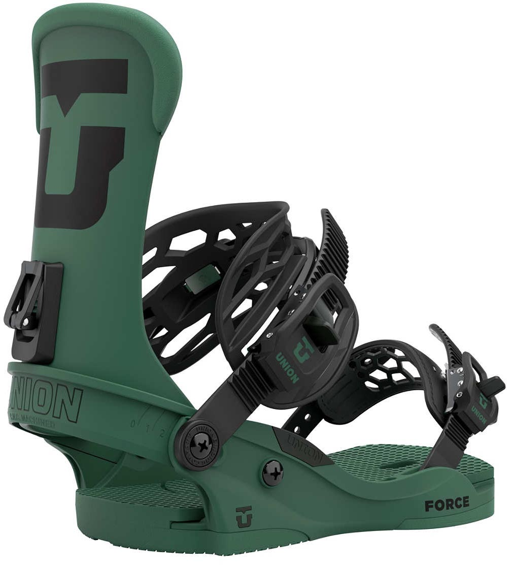 Union Force Team Snowboard Bindings, L Forest Green 2021
