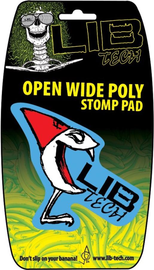 Lib Tech Open Wide Poly Traction Snowboard Stomp Pad, White/Orange
