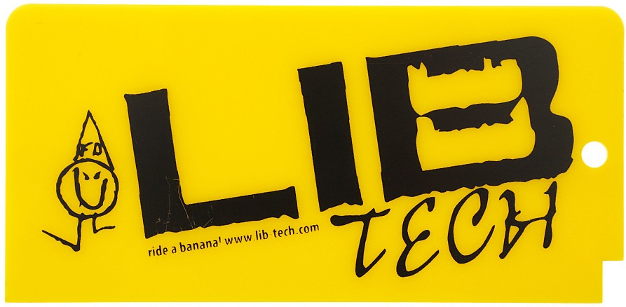 Lib Tech Banana Ski/Snowboard Wax Scraper Yellow