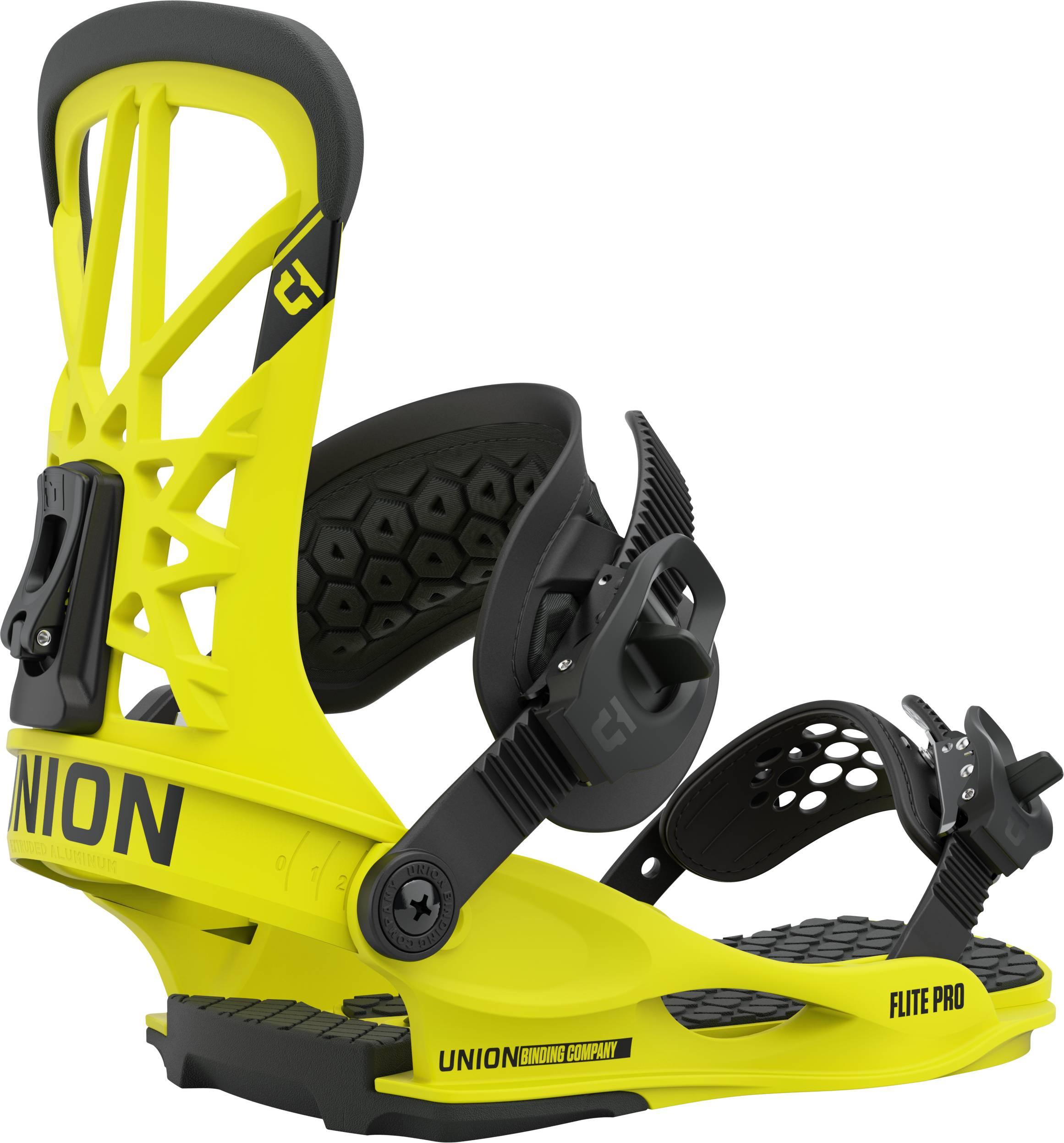 Union Flite Pro Snowboard Bindings, M Hazard Yellow 2021
