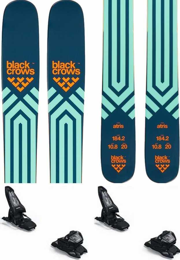 Black Crows Atris Skis 178cm, Blue/Orange, Marker Griffon 13 ID, 2022