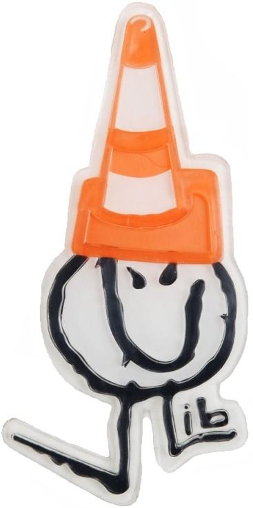 Lib Tech Caution Poly Traction Snowboard Stomp Pad, White/Orange