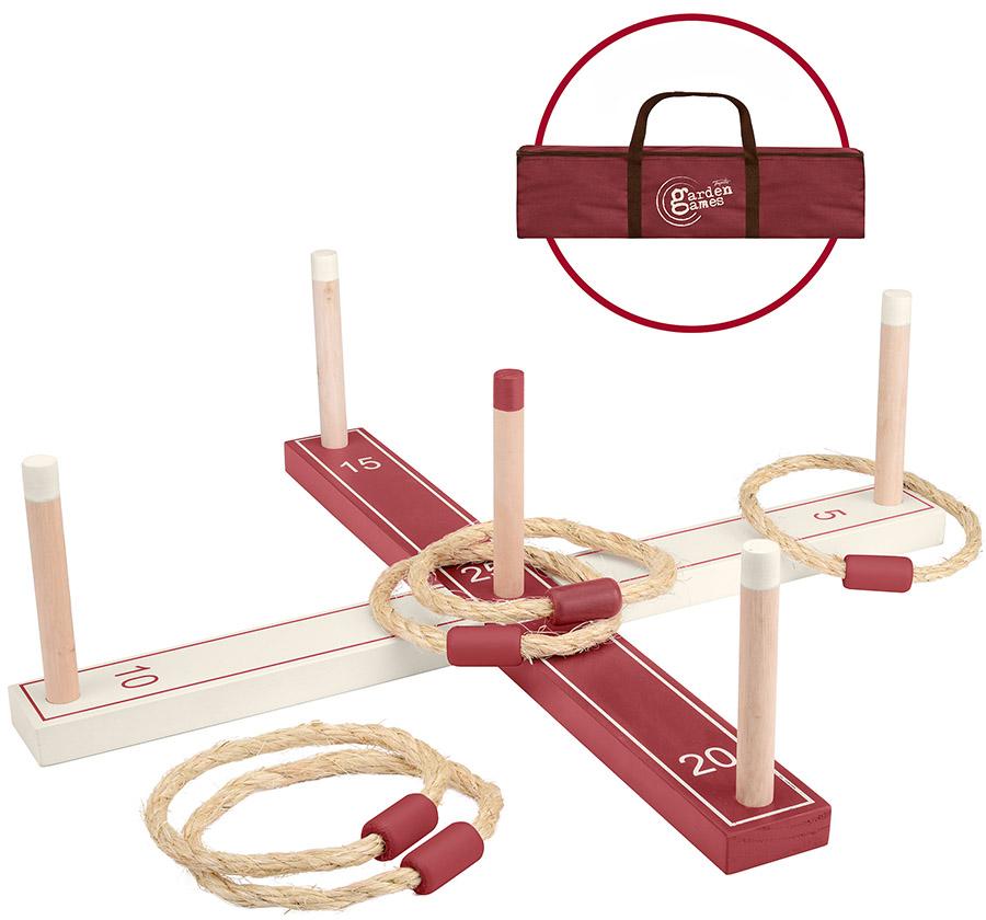 Toyrific Garden Wooden Ring Toss Game Set