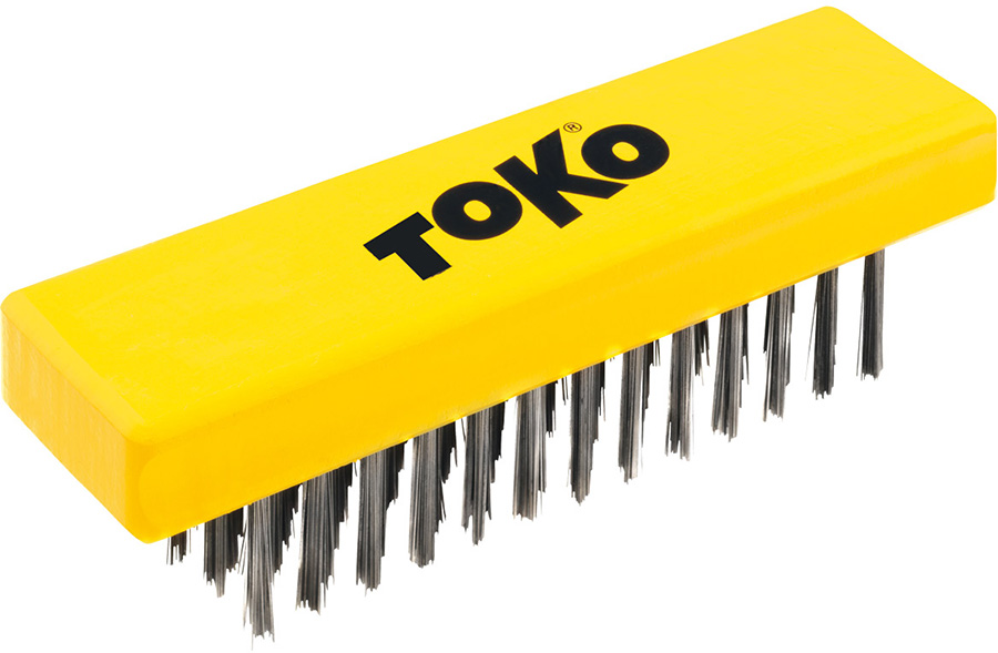 Toko Structure Ski/Snowboard Base Brush, 25mm Yellow