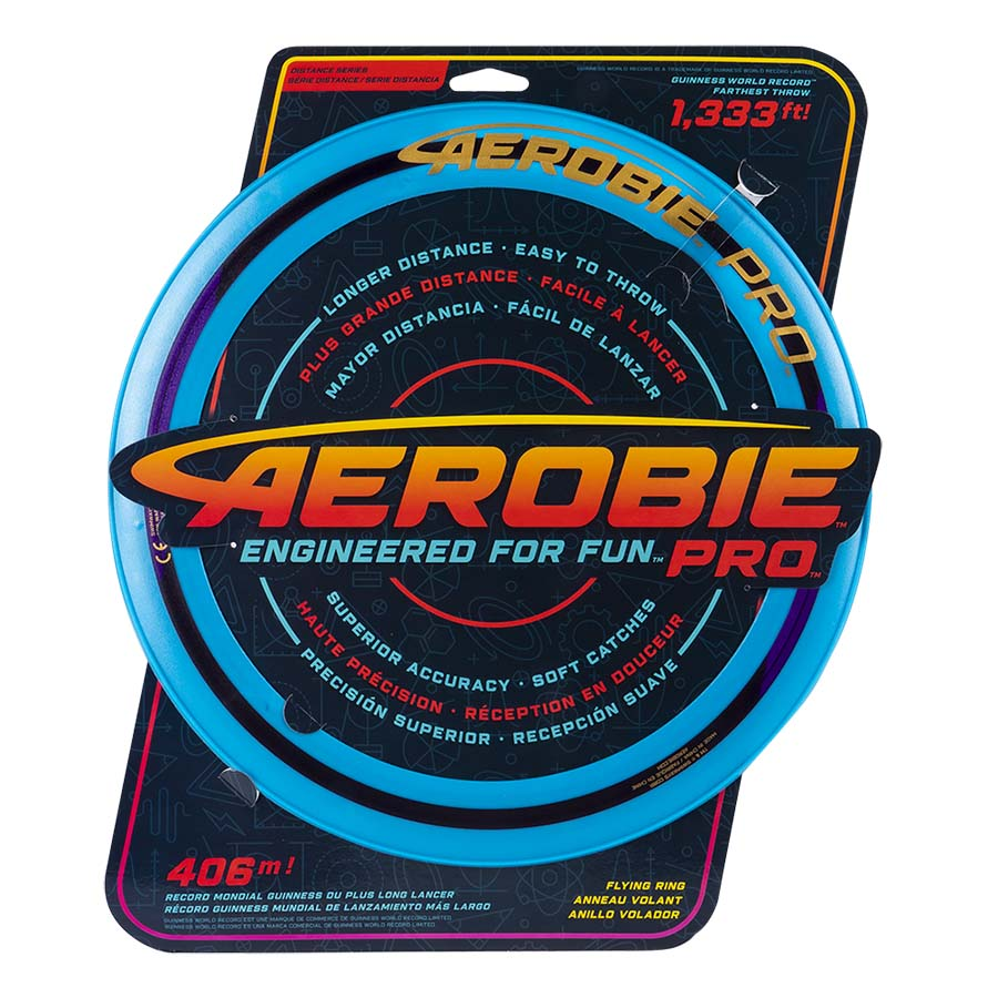 Aerobie Pro Flying Ring, 13-inch (33 cm) Blue, Outdoor Toy