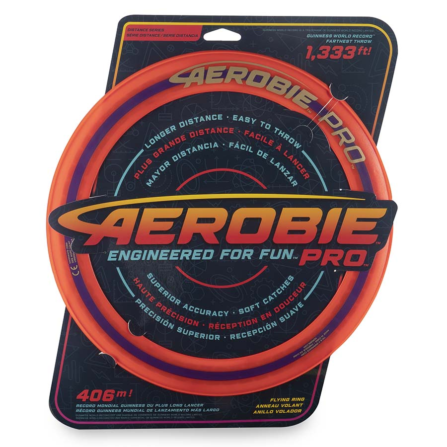 Aerobie Pro Flying Ring, 13-inch (33 cm) Orange, Outdoor Toy