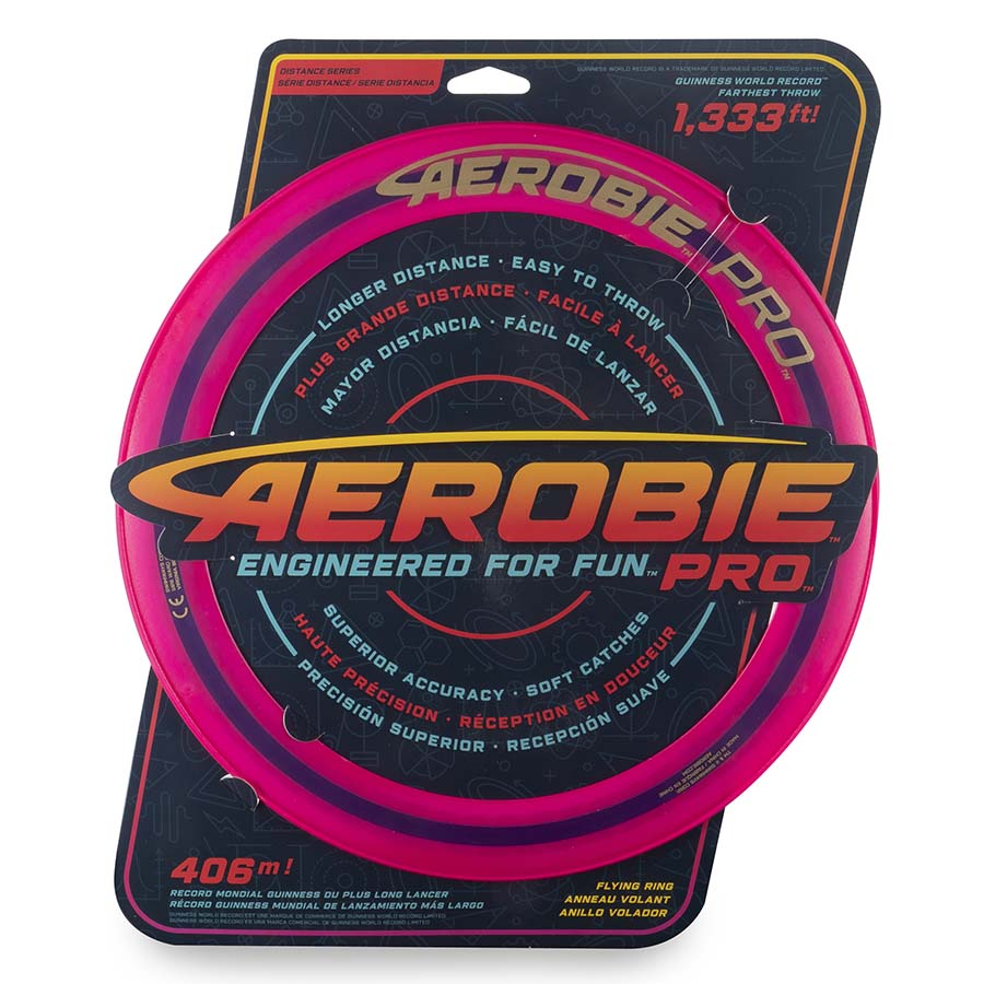 Aerobie Pro Flying Ring, 13-inch (33 cm) Pink, Outdoor Toy