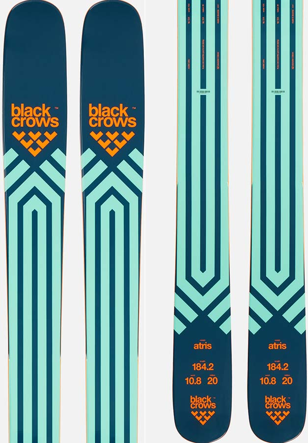 Black Crows Atris Skis 178cm, Blue/Orange, Ski Only, 2021
