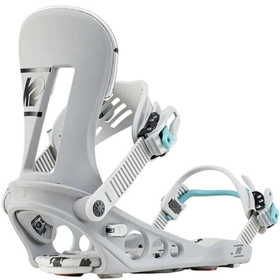 K2 Adult Unisex Line Up Snowboard Bindings, M Grey 2020