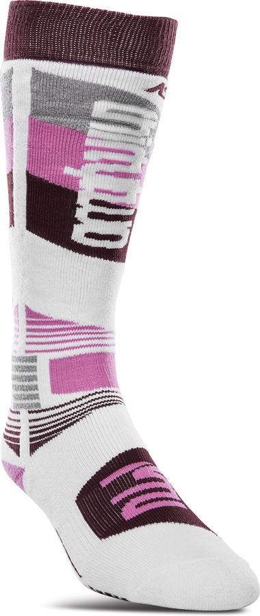 thirtytwo ASI Merino Performance Womens Snowboard/Ski Socks, S/M White