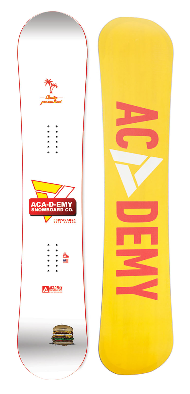 Academy Propaganda Zero Camber Snowboard 146cm 2020