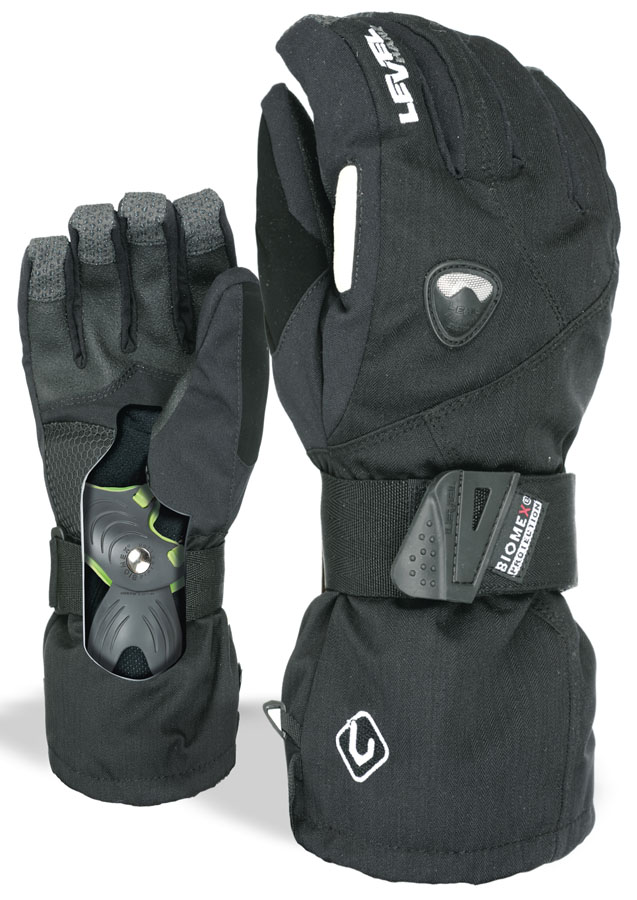 Level Fly Snowboard/Ski Gloves, L Black