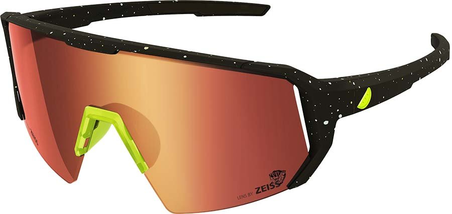 Melon Alleycat Red Chrome Performace Sunglasses, Paint Splat/Yellow