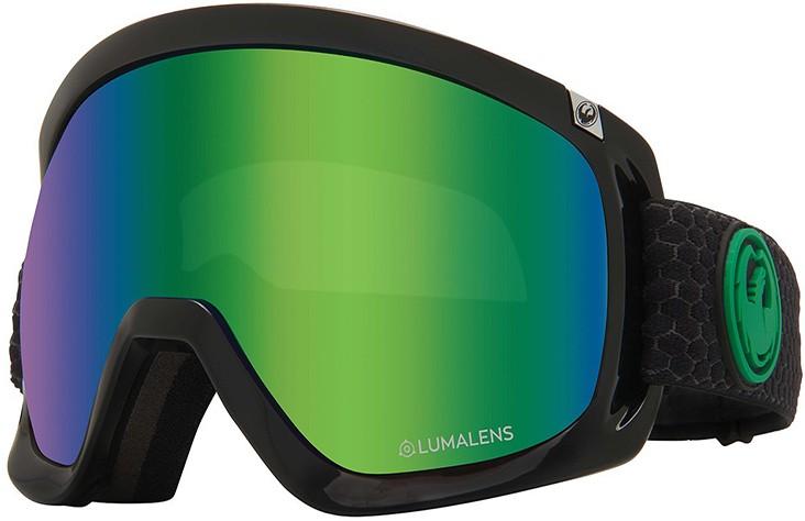 Dragon D3 OTG LumaLens Green Ion Snowboard/Ski Goggles, L Split