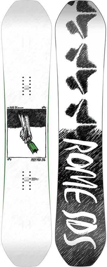 Rome Adult Unisex Party MOD Rocker Reverse Camber Snowboard 159cm 2021
