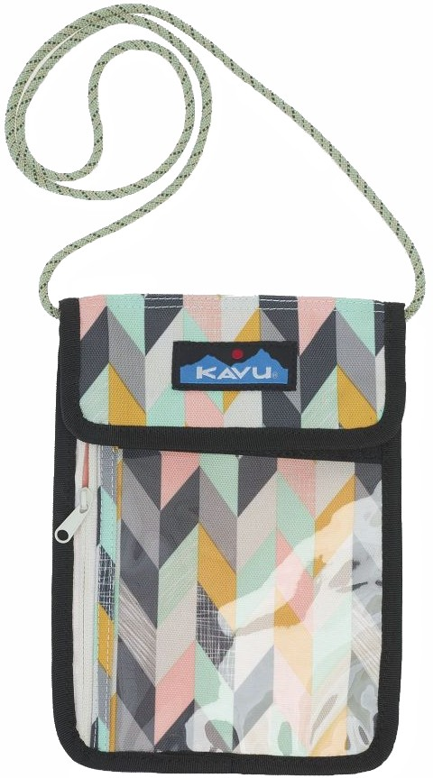 Kavu Keepitclose Neck Wallet/Passport Holder Chevron Sketch