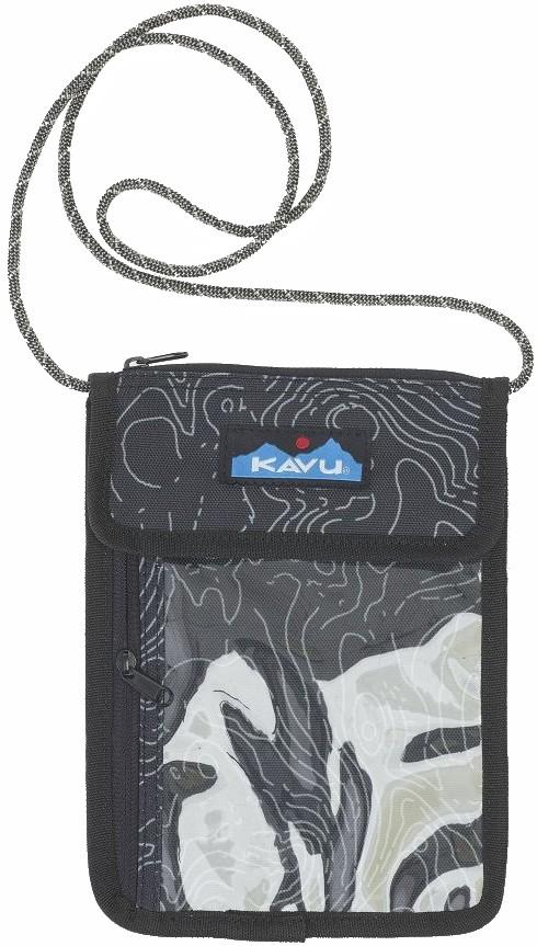 Kavu Keepitclose Neck Wallet/Passport Holder Black Topo