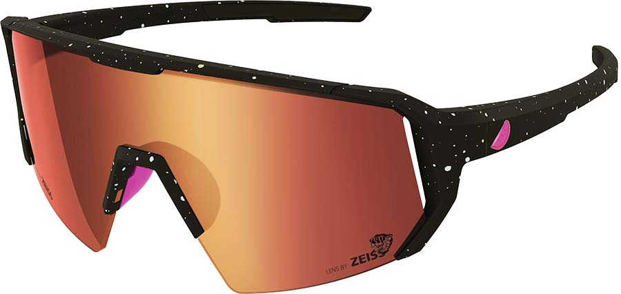 Melon Alleycat Red Chrome Performace Sunglasses, Paint Splat/Pink