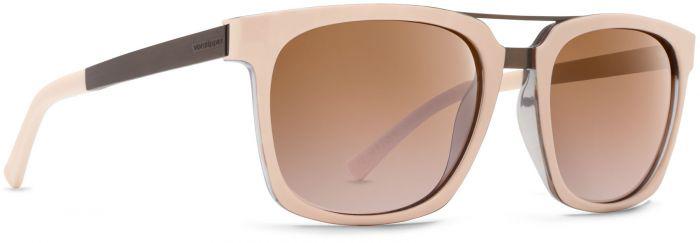 Von Zipper Plimpton Silver Flash Brown Lens Sunglasses, Nude Tortoise