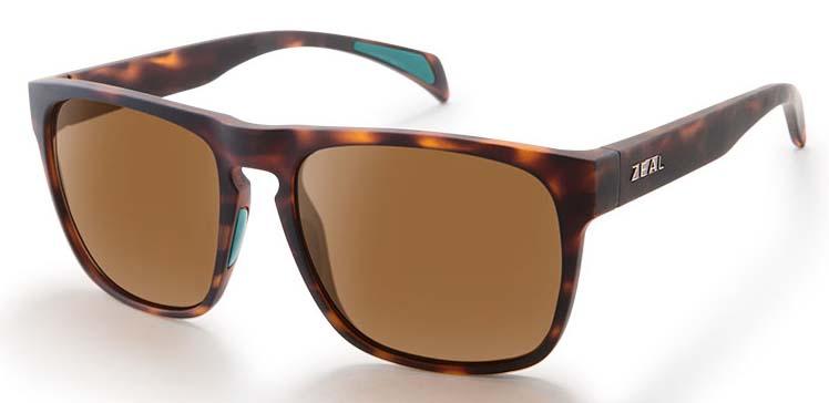 Zeal Capitol Sunglasses M Matte Tortoise Copper