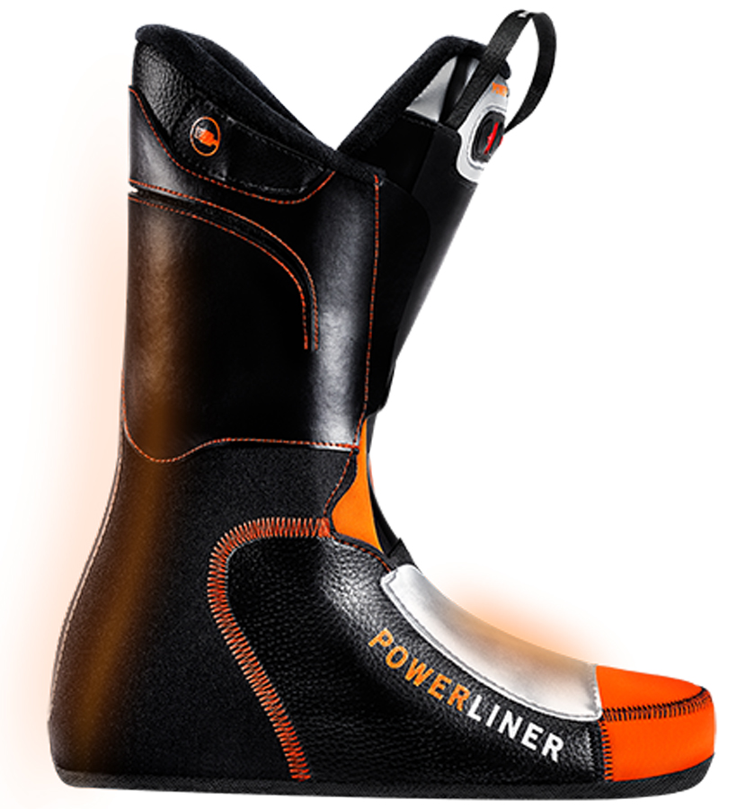 Therm-ic Powerliner Ski Boot Liner, 25/25.5 Black