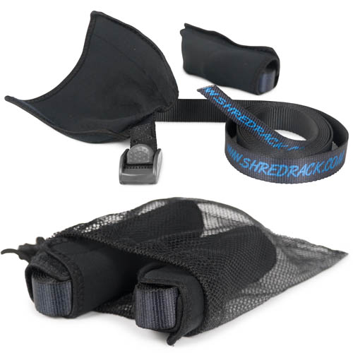 Shred Rack JawStrap PES 2-Set Lashing Strap/Tension Belt, 2m Black
