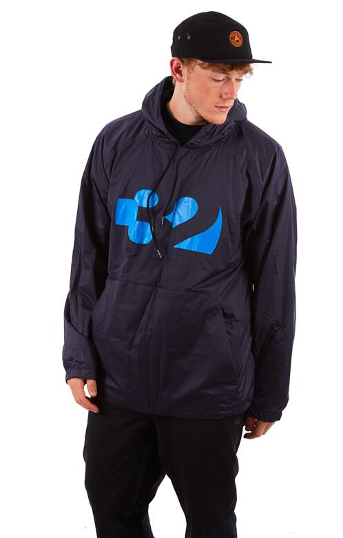 thirtytwo Apex Tech Anorak Technical Snowboard Hoodie, L Navy/Blue