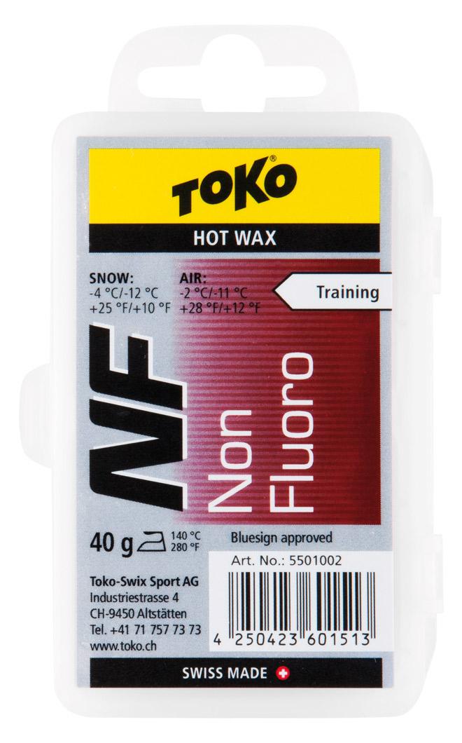 Toko NF Red Ski/Snowboard Base Hot Wax, 40g Red