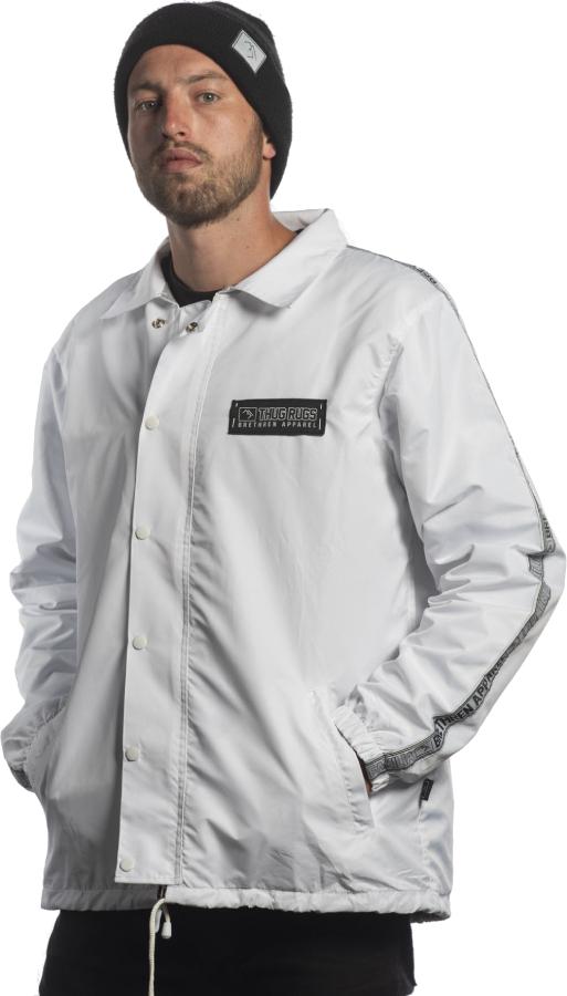 Brethren Apparel Coach Ski/Snowboard Jacket, L White