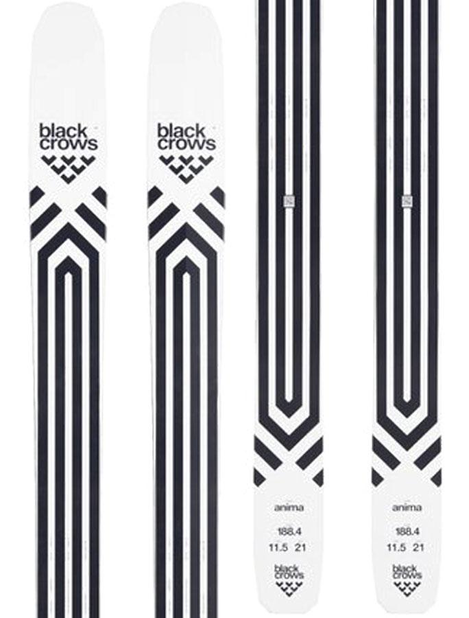 Black Crows Anima Skis 176cm, Black/White, Ski Only, 2020