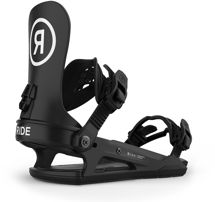 Ride C-2 Snowboard Bindings, L Black 2021