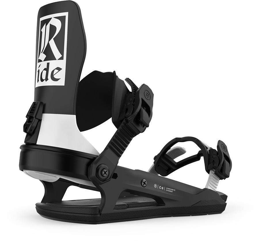Ride C-6 Snowboard Bindings, L Classic Black 2021