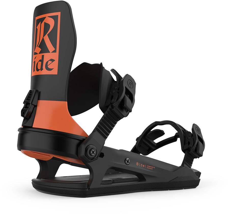 Ride C-6 Snowboard Bindings, L Orange 2021