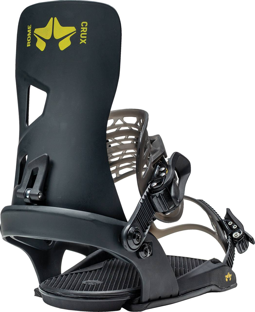 Rome Crux Snowboard Bindings, L/XL Black 2021