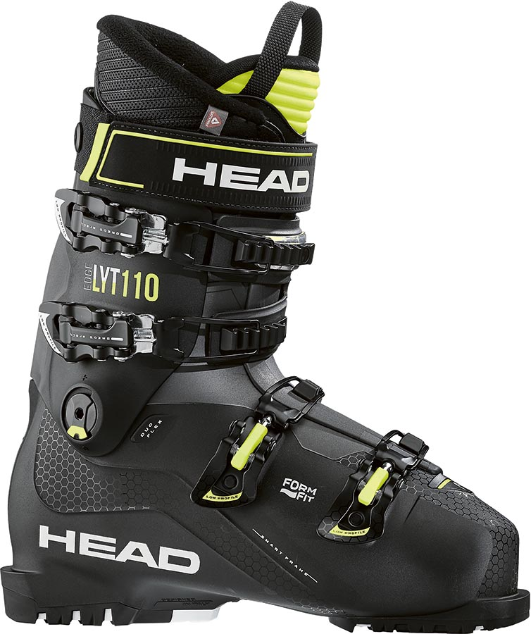 Head Edge LYT 110 Ski Boots, 26/26.5 Black/Yellow 2021