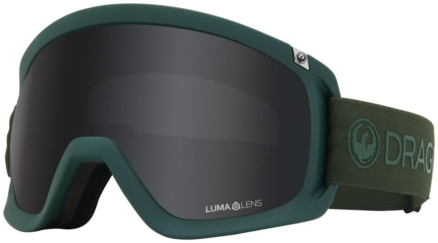 Dragon D3 OTG LumaLens Dark Smoke Snowboard/Ski Goggles, L Foliage