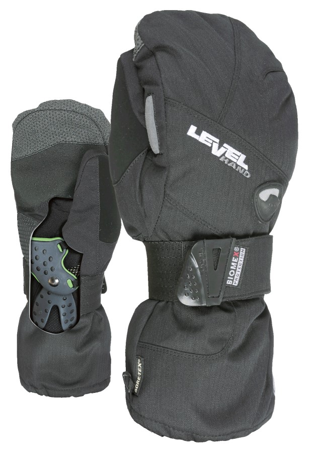 Level Half Pipe Gore-Tex Snowboard/Ski Mitts, L Black