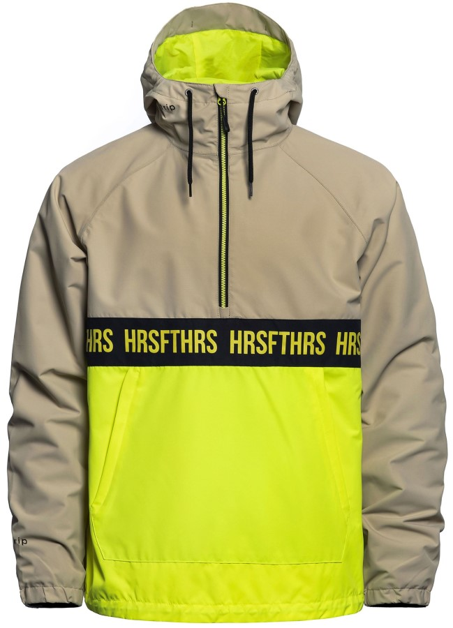 Horsefeathers Galen Atrip Pullover Ski/Snowboard Jacket, L Limeade