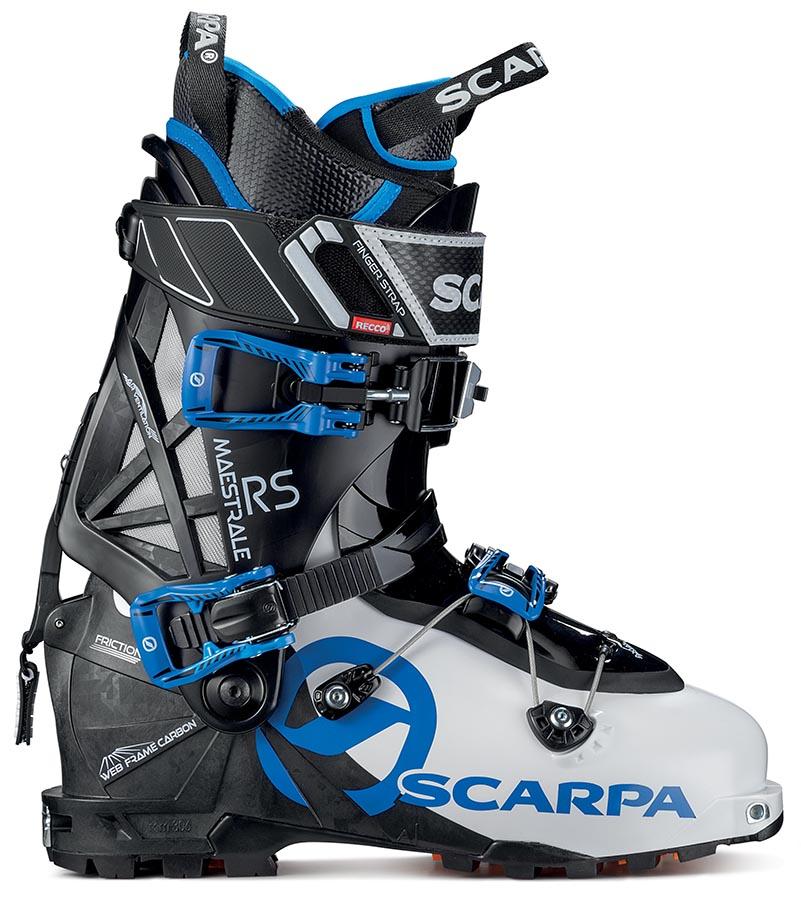 Scarpa Maestrale RS 2 Ski Boots, 24.5 White/Black/Blue