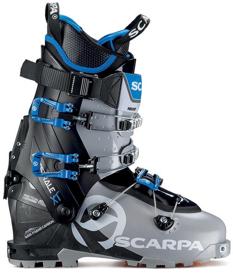 Scarpa Maestrale XT Ski Boots, 24.5 Grey/Black/Blue