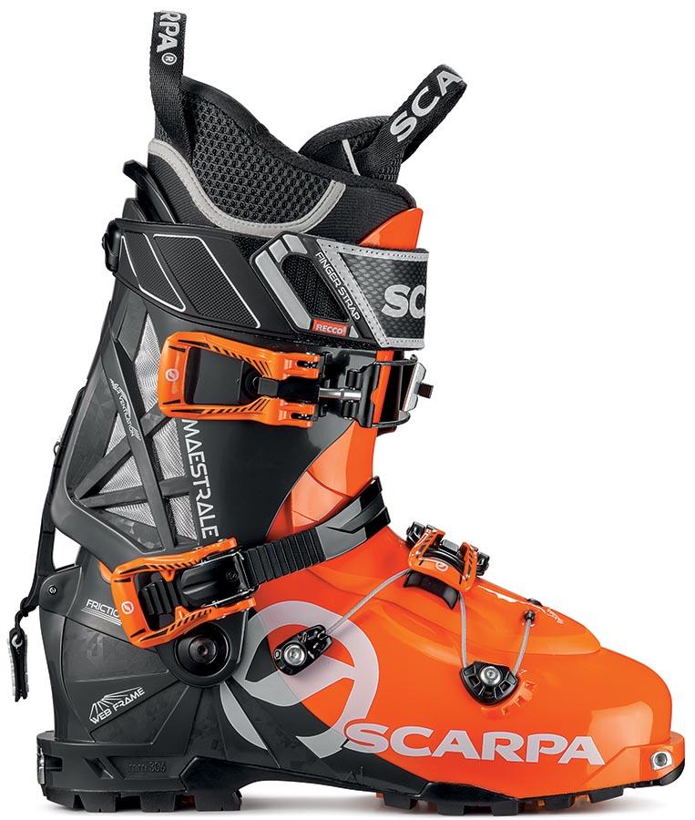 Scarpa Maestrale 2 Ski Boot, 29.5 Orange/Black