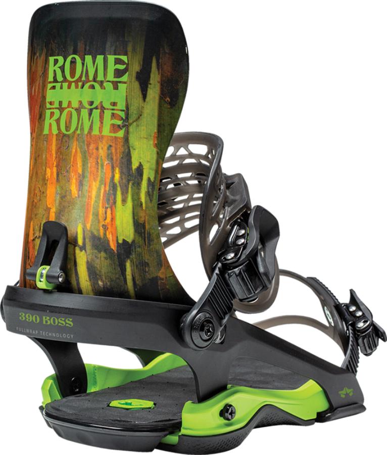Rome 390 Boss Snowboard Bindings, M/L Camo 2021