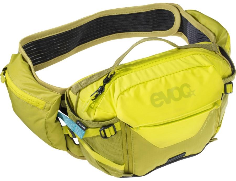 Evoc Hip Pack Pro + Hydration Bladder Waist Pack, 3L Sulphur/Moss