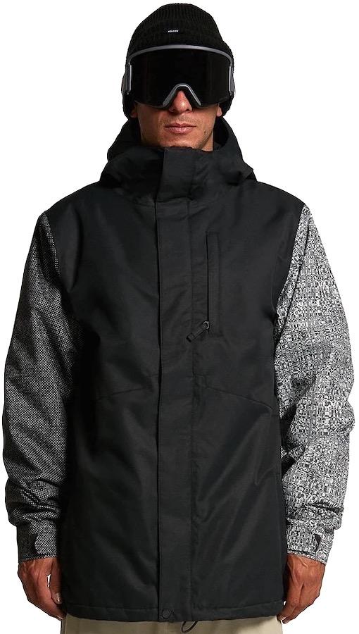 Volcom 17 Forty Insulated Ski/Snowboard Jacket, L Black Check